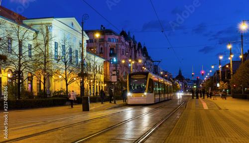Deurstickers Europese Plekken Debrecen streets in night lights
