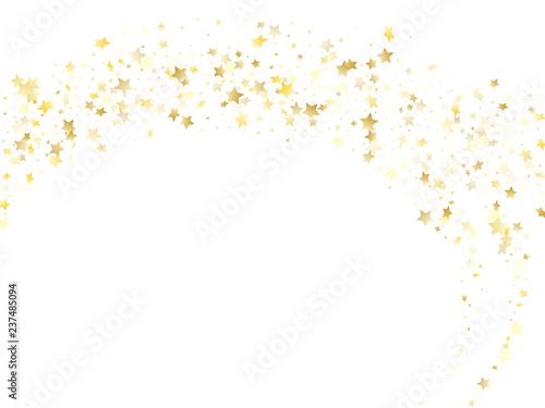 Fototapeta  Magic gold sparkle texture vector star background.