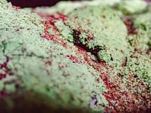 Lichen Crust On Rocks Close-up