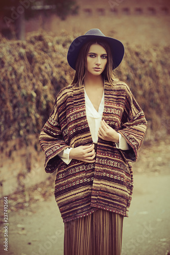 Poster Gypsy stylish young woman