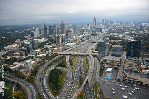 Poster Chicago Aerial View of Atlanta
