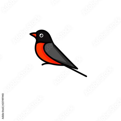 Fotografie, Tablou Creative Bird Logo Designs