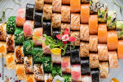 Foto  big sushi set
