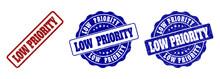 LOW PRIORITY Grunge Stamp Seal...