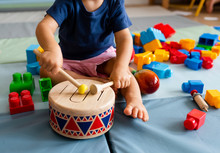 Little Boy Having Fun And Play...
