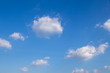 Deep blue sky and white cloud background.Abstract nature background.