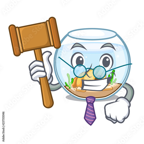 Foto  Judge fishbowl in a funny on cartoon