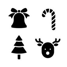 Christmas Holiday Symbols Vect...