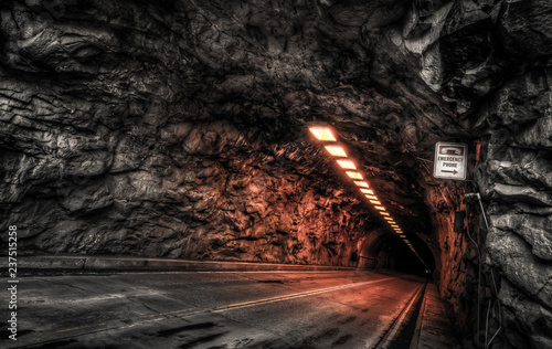 Dark Tunnel, Yosemite National Park, California Wallpaper Mural