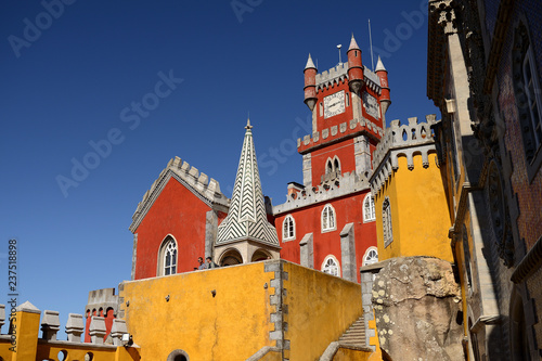 Foto  Pena Palace in syntra, portugal
