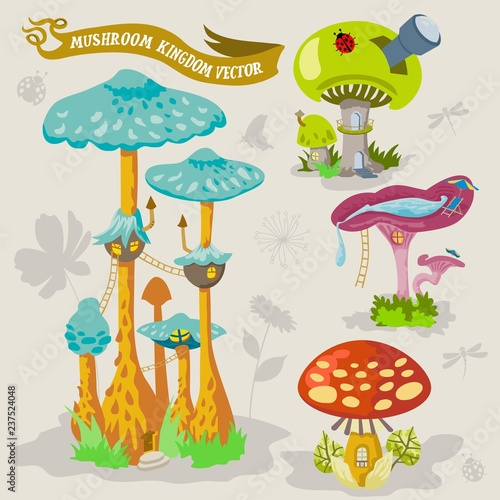 Mushroom fairy kingdom vector fantasy land illustration map ... on housing maps, google maps mania, map software for os x, maps of the world, map captain, maps on us, map creation freeware, map engineering company, map maker pro, map of amtrak through glacier park,