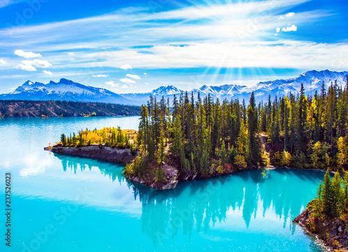 Foto  Artificial Lake Abraham