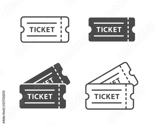Fototapeta Ticket icon set obraz
