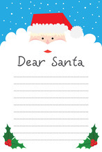 Dear Santa. Writing Letter To ...