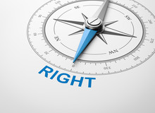 Compass On White Background, R...