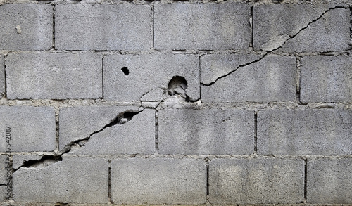 Fotomural broken block cement wall