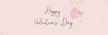 Trendy Romantic Valentine's Day Chic Blush Pink Banner Template