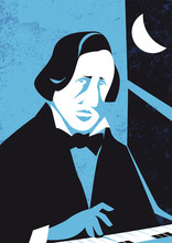 Frederic Francois Chopin Vector Illustration