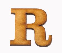 Alphabet In Wood - Letter R