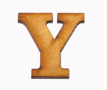 Alphabet In Wood - Letter Y