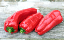 Sweet Red Pepper On Rustic Table