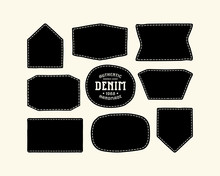 Set Of Patch Silhouettes For D...
