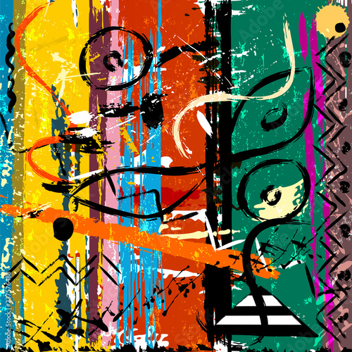 abstract background illustration, with paint strokes and splashes, grungy