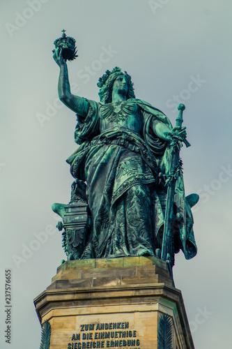 Fotografie, Obraz  Niederwalddenkmal - Bavaria Statue