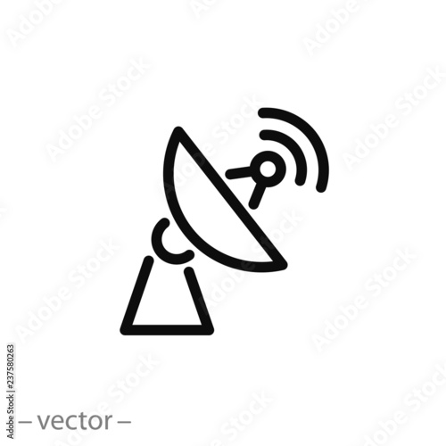 Fotomural Antenna icon vector