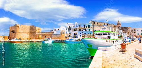 Deurstickers Europese Plekken Traditional Italy - white town Monopoli in Puglia