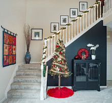 Open Staircase With Christmas ...
