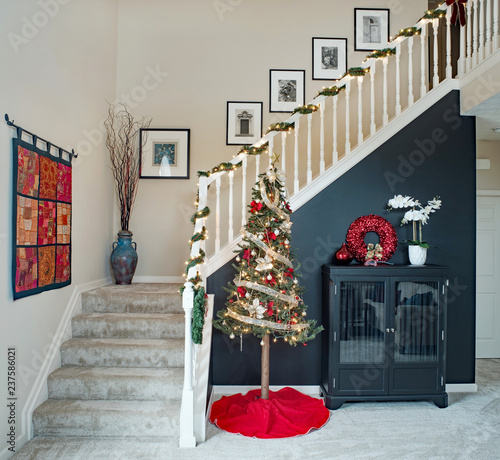 Fotografija Open Staircase with Christmas Tree