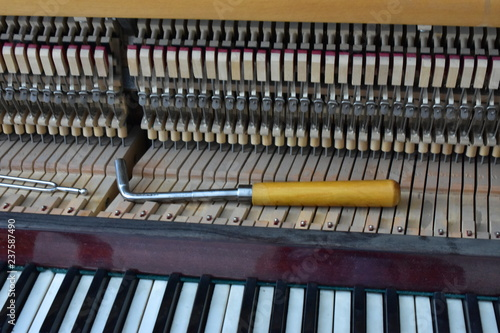 instruments for tuning pianoforte and piano, Poster Mural XXL