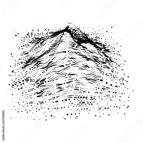 Fotografie, Obraz  Wireframe terrain vector background
