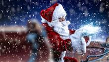 Red Old Santa Claus And Magic ...