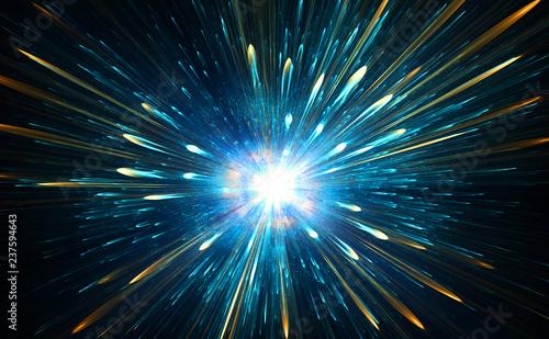 Fotografia, Obraz High-energy particles explosion.