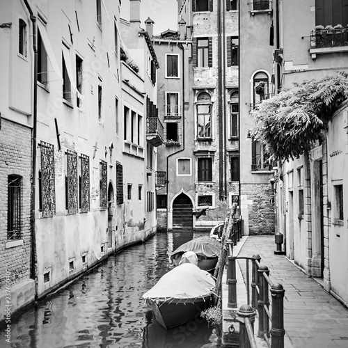 Narrow side canal in Venice