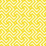 Seamless geometric pattern. Vector linear yellow pattern with swastika. - 237602667