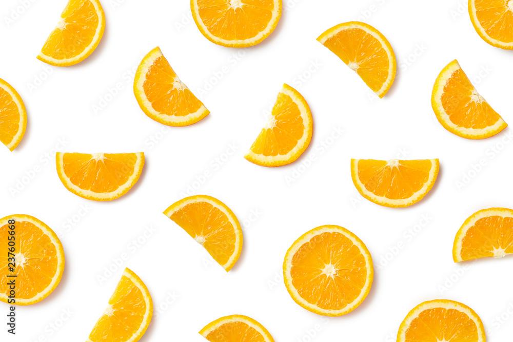 Fototapety, obrazy: Fruit pattern of orange slices