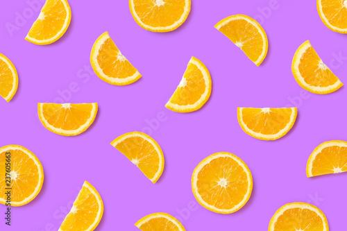 canvas print motiv - baibaz : Colorful fruit pattern of orange slices