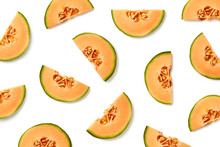 Fruit Pattern Of Melon Slices