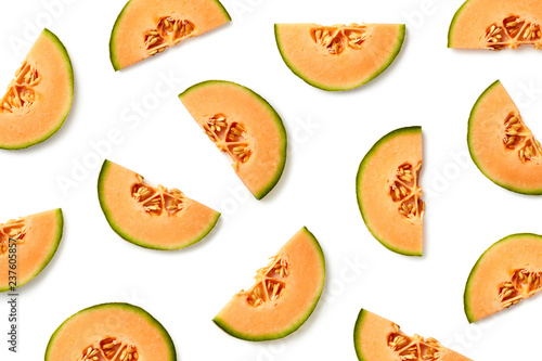 Fruit pattern of melon slices
