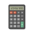Icon of a simple calculator with a set of digits. Vector Illustration.