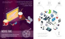 Isometric Movie Time Composition