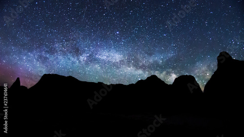 Milky Way Rising Over Badlands National Park Canvas Print