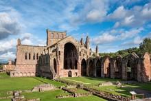 Ruin Of The Cistercian Monastery Melrose Abbey, Melrose, Scottish Borders, Scotland, Great Britain
