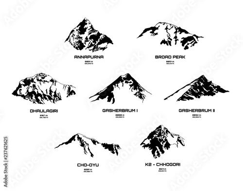 Photo Set of mountains - eight thousanders I