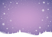 Christmas Background With Glittering Snowflakes. Vector.