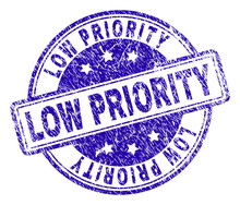 LOW PRIORITY Stamp Seal Waterm...