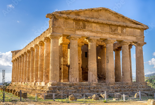 Fotografiet Valley of Temples in Agrigento, Sicily